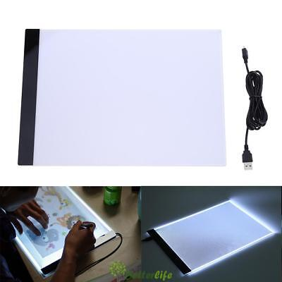 A4 K1 LED Artist Thin Type Stencil Drawing Board Light Tracing Table Pad 2.2W UK