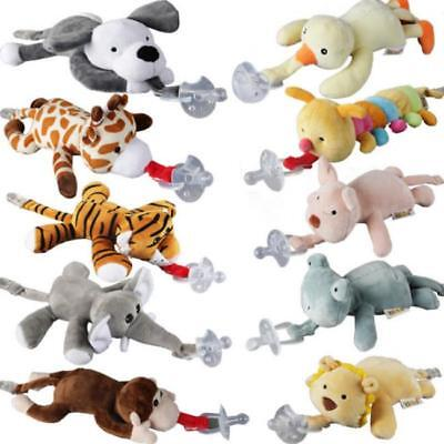 Baby Girl Boy Dummy Pacifier Chain Clip Animal Toys Soother Nipples Holder GA