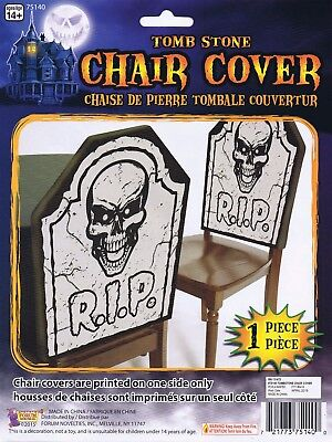Halloween Horror Party Tombstone Chair Cover RIP Rest In Peace Fancy Dress Decor