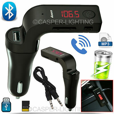 LCD Wireless Car FM Transmitter Bluetooth MP3 AUX SD Charger USB Handsfree Kit