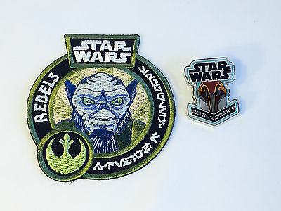 Funko SABINE Wren and ZEB REBELS Patch and Pin Set Star Wars Smugglers Bounty