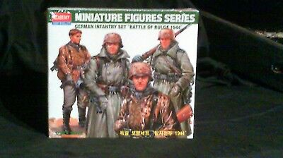 """1/35 Scale Academy German Infantry Set""""Battle of the Bulge 1944""""4 Figures Sealed"""