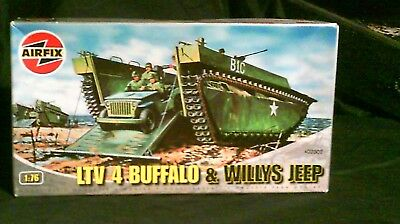 1/76 Scale Airfix LTV 4 Buffalo and Willy's Jeep