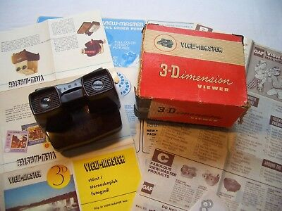 View Master Bildbetrachter 3-Dimension Modell E - 50er Jahre