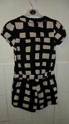 Girls Next Playsuit Age 9 Years Immaculate Cond Worn Once Black & Ivory Beige