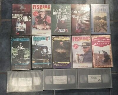 Fishing Vhs Assorted Bundle X 13 Vhs Tapes Coarse/sea/carp/pole Etc