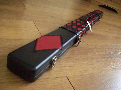 Handmade 3/4 Cue Case. Leather, Stitch Effect