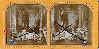 Unique Hold To The Light Diableries Stereoview Medicines Of Satan Skeletons