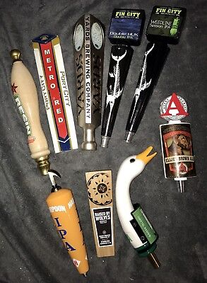 Lot Of 9 Draught Beer Tap Handles