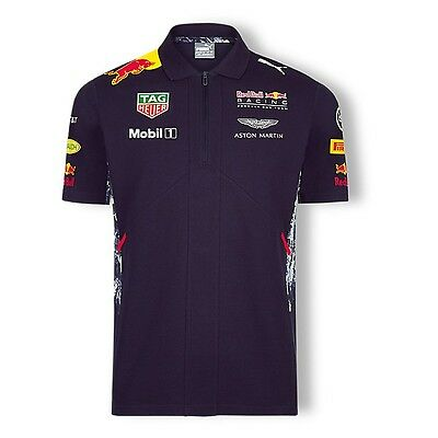 2017 OFFICIAL F1 Red Bull Racing Mens Team POLO shirt NAVY BLUE – NEW