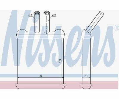 Nissens 76502 Heat Exchanger, Interior Heating
