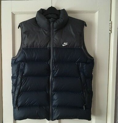 Nike Navy / Grey Gilet Body Warmer Size Medium