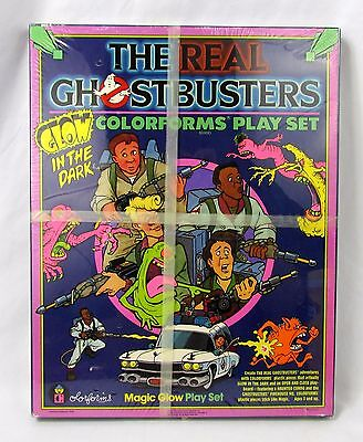 Vtg The Real GHOSTBUSTERS Glow in the Dark Colorforms Play Set Rare Still Sealed