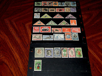 Liberia stamps - BIG lot of 38 mint hinged and used early stamps - very nice !!