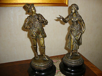 Antique spelter statues Figurines