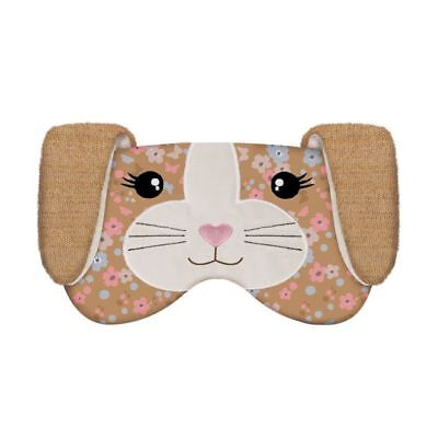 NEW Aroma Home Lavender Seed Scented Floral Bunny Knitted Eye Mask / Sleep Mask