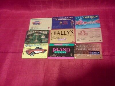 9 Different Old Nevada Casino Slot Cards  ****raised Numbers/letters****