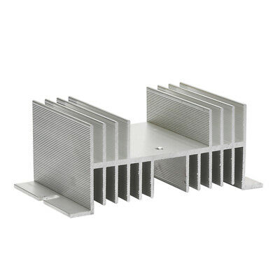 Aluminum Heat Sink 20A-60A Solid State Relay SSR Radiator For Single Phase