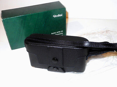 New MINT+++ Boxed Nerver Used Rollei AFM 35 Camera everready case Leather TOP+++