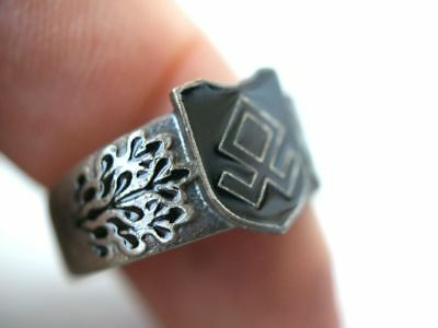 Offiziers Ehrenring Runenring Silber Ring 800 & RZM