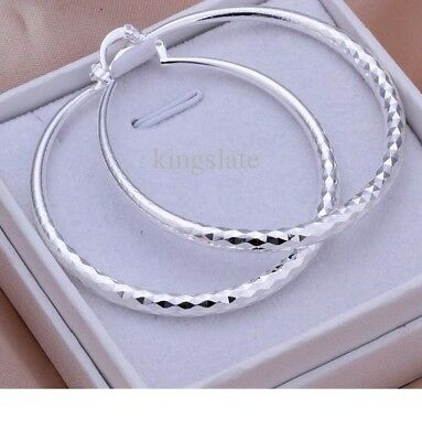 925 Sterling Silver Fashion Hoops Earrings For Ladies XMAS Gifts