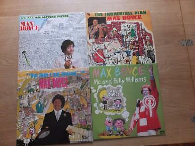 MAX BOYCE ~ 4 x Vinyl LPs  of the Welsh comedian's performances from 1970's/80's