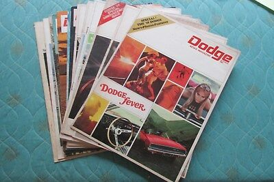 0612d  Lot of 15 Dodge News magazines brochures 1964-1970 Deora Thunder Charger