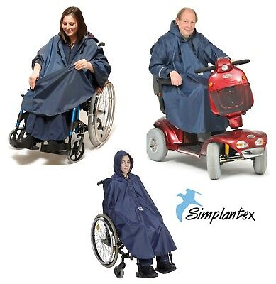 Poncho Unsleeved & Sleeved Wheelchair Scooter Clothing Waterproof Rain Coat Aid