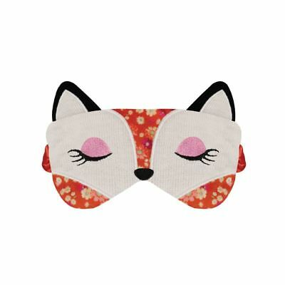 NEW Aroma Home Lavender Seed Scented Floral Fox Knitted Eye Mask / Sleep Mask