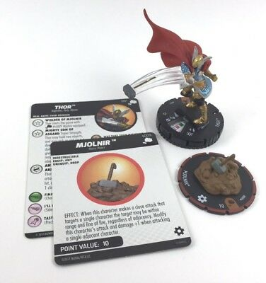 Marvel Heroclix Mighty Thor Set #061 Thor with #S009 Mjolnir Chase Figure