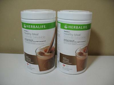(2) Herbalife Formula 1 Healthy Meal Nutritional Shakes 780g (DUTCH CHOCOLATE)
