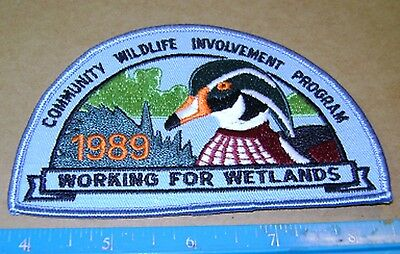ONTARIO MNR CWIP 1989 WOOD DUCK PATCH Natural Resources Community Wildlife