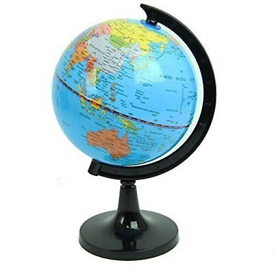Office School Desktop Stand Globe World Political Easy Rotating Swivel 10 Inch