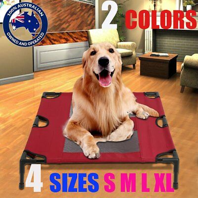 New Heavy Duty Pet Dog Cat Summer Bed Trampoline Hammock Cot Size S M L XL SYD