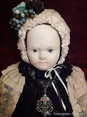 Early Antique Andreas Voit Papier Maché Doll from France