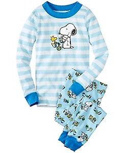 140 Discontinued Hanna Andersson Peanuts Snoopy Spring Easter Pajamas/PJs, NWT
