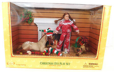 BREYER Christmas Eve Playset 2005, New in Box, Collectible  #700635