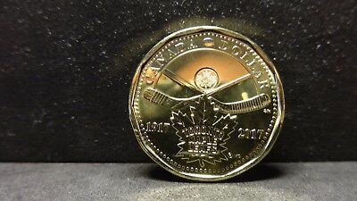 Canada 2017 100th Anniversary Toronto Maple Leafs  One Dollar Loonie