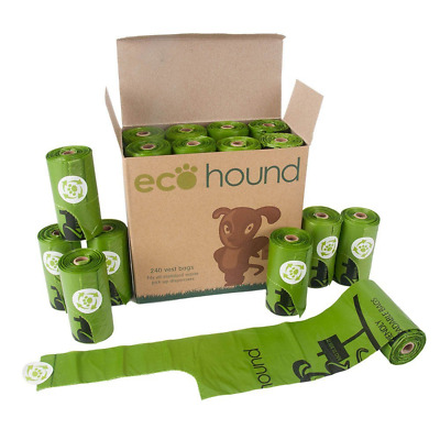 Ecohound SMALL Dog Poo Bags With Handles - Biodegradable Dog Waste Bag Rolls
