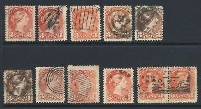 Canada Small Queen 3c SG 80-105 £56.50 Used
