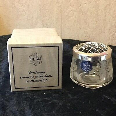 Stuart Crystal Etched Rose bowl and Cover