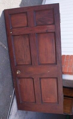 Antique Solid Mahogany Panelled Interior Door - Reclaimed from Georgian House