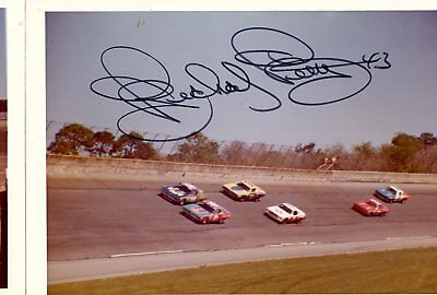 Richard Petty Autograph Orig 1970s 5x3.5 Photo NASCAR Modified 4545