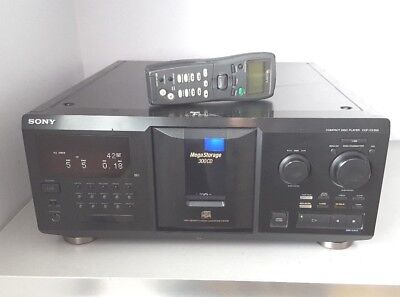 Sony Cdp-Cx350 Mega Storage 300 Cd Changer & Lcd 2 Way Remote - Serviced