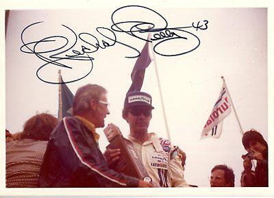 Richard Petty Autograph Orig 1970s 5x3.5 Photo NASCAR 4555