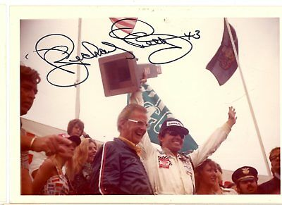 Richard Petty Autograph Orig 1970s 5x3.5 Photo NASCAR 4557