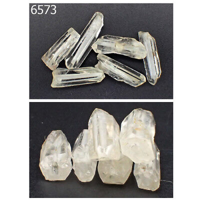 Lot 6 Ancient Egyptian Natural Rock Crystal Healing Quartz Carved Beads #6573