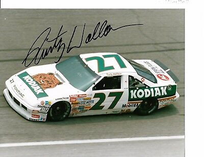 Autographed Rusty Wallace  NASCAR Racing Photograph