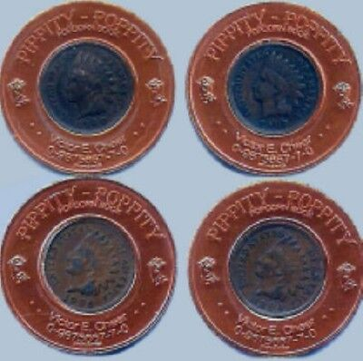 Four Different Encased Indian Head Cents