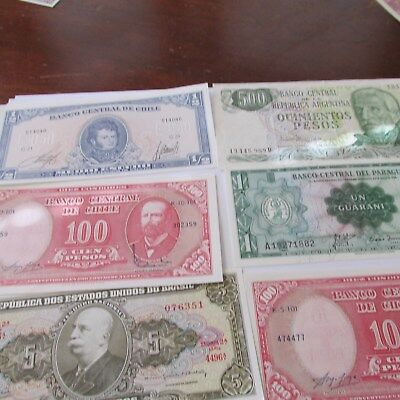south amercia paper money uncirculated [chile,argentina etc.]